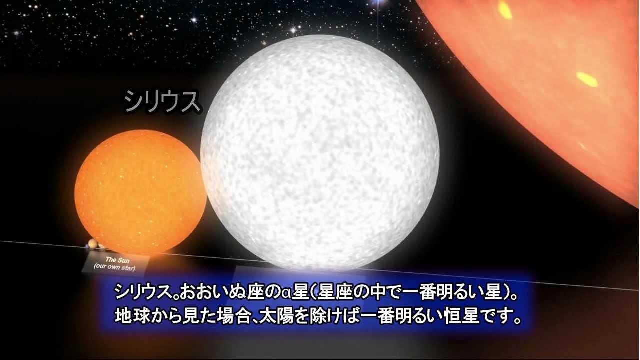 「月」から「おおいぬ座VY星」まで背比べ【宇宙は広い】